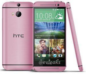 Fugas no anunciadas de HTC One M8 rosa en una toma de prensa