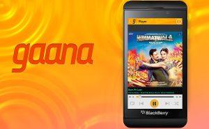 Gaana lanza la aplicación BlackBerry 10