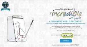 'Galaxy Note II Incredible Art-Piece' anunciado por Samsung, un intento de romper el récord mundial Guinness