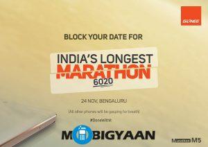 Gionee Marathon M5 se lanzará el 24 de noviembre en India
