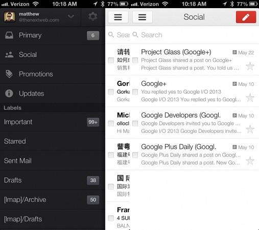 actualización de gmail-ios