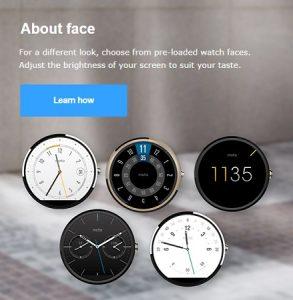 Gold Moto 360 visto brevemente en el sitio web oficial de Motorola