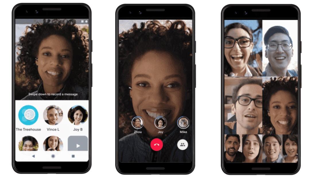 Actualización de llamadas de grupo de Google Duo
