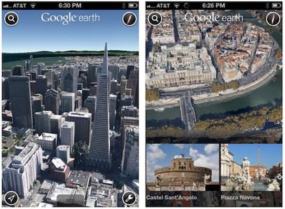 Google Earth 7 trae mapas 3D a iOS