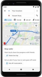 """Google Maps lanza una nueva función """"Mantente seguro"""" en India"""