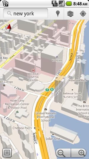 Google Maps para Android se vuelve 3D