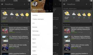 Google News and Weather ahora disponible para dispositivos iOS