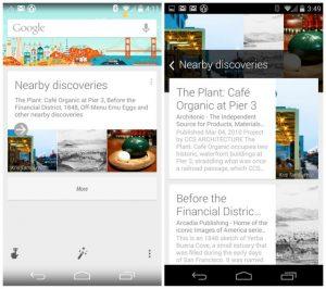 Google Now obtiene la integración de Field Trip;  ofrecerá recorridos virtuales mediante la tarjeta 'Descubrimientos cercanos'