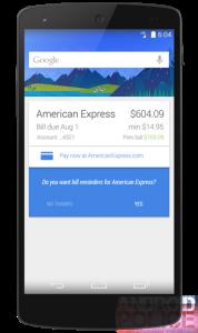 Google Now pronto puede ayudarlo a pagar sus facturas a tiempo