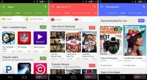 Google Play Store 5.0 con Material Design filtrado