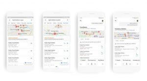 Google ahora muestra la ubicación de los refugios nocturnos y de comida COVID-19 en 30 ciudades de la India