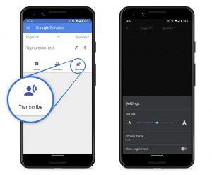 Google ahora trae la transcripción en tiempo real al Traductor de Google