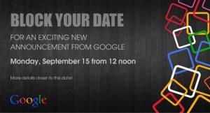 Google envía invitaciones de prensa para el evento del 15 de septiembre;  Podría ser el anuncio de Android One