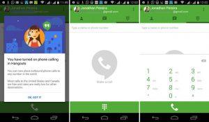Google integra llamadas de voz para Android;  Lanza la aplicación Hangouts Dialer