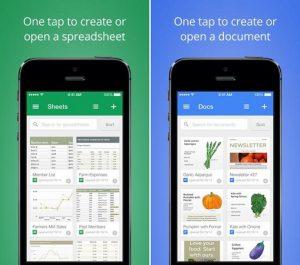 Google lanza aplicaciones independientes de Documentos y Hojas de cálculo en Android e iOS