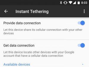 Google lanza la función Instant Tethering con Play Services 10.2