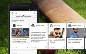 Google ofrece contenido relevante y comentarios en tiempo real para la Copa del Mundo ICC T20 en la Búsqueda