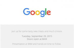 Google programa el evento de lanzamiento el 29 de septiembre;  Se esperan Nexus 5X y Nexus 6P