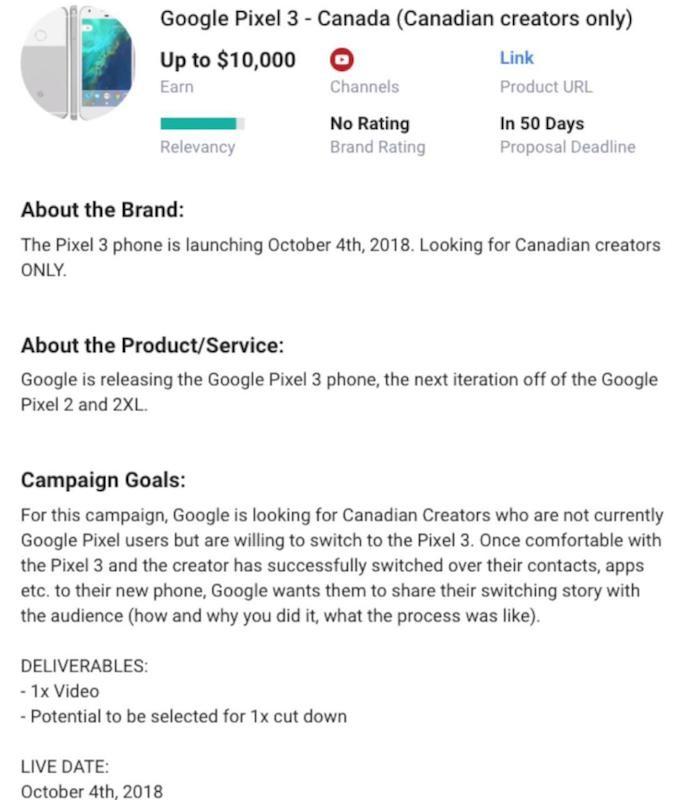 Fecha de anuncio de Google Pixel 3