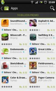 Google recorta los precios de las aplicaciones premium para celebrar 10 mil millones de descargas de aplicaciones para Android