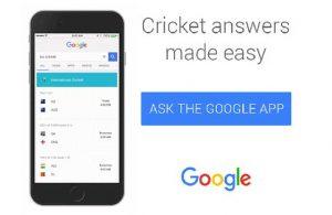Google simplifica la experiencia de búsqueda para la Copa del Mundo T20