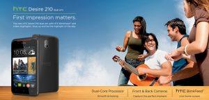 HTC Desire 210 con pantalla de 4 pulgadas y procesador de doble núcleo lanzado para Rs.  8700