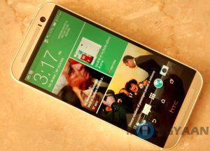 El buque insignia de HTC One (M8) se lanzó en India por Rs.  49900