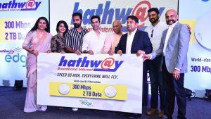 Hathway Broadband que ofrece datos de 2 Terabyte a 300 Mbps por ₹ 1250 por mes