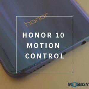 Cómo usar la función de control de movimiento de manera efectiva en Honor 10