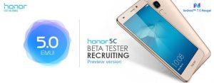 Honor comienza la prueba beta de la actualización de Android Nougat para Honor 5C en India