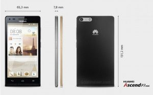 Huawei Ascend P7 mini con una pantalla de 4.5 pulgadas revelada