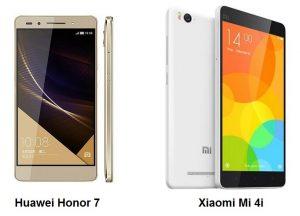Huawei Honor 7 vs Xiaomi Mi 4i: Comparación de especificaciones