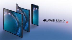 El teléfono inteligente plegable Huawei Mate X con soporte 5G lanzado en el MWC 2019