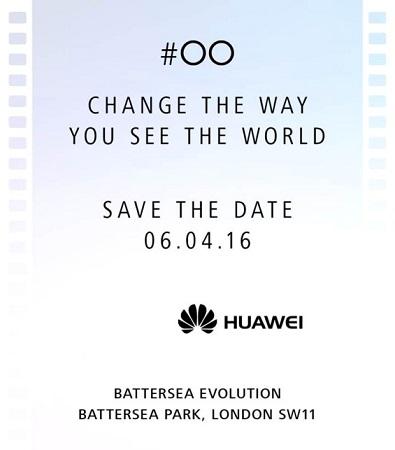 Invitación de lanzamiento de Huawei P9