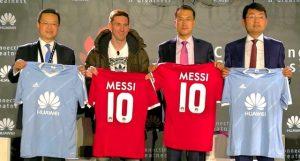 Huawei acuerda a Lionel Messi como embajador global de la marca