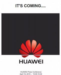 Huawei comienza a enviar invitaciones para el evento del 15 de abril, se acerca el buque insignia P8