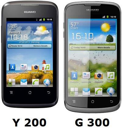 Huawei lanzará Ascend Y200 y G300 a finales de este mes en India