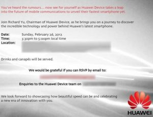 Huawei planea presentar su dispositivo más rápido del 'Futuro de las comunicaciones móviles' en el MWC