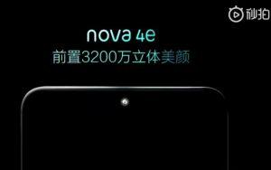 Huawei se burla de Nova 4e con cámara frontal de 32 MP
