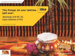 Idea Cellular lanza una oferta especial de Pongal en Tamil Nadu y Chennai