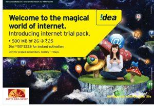 Idea anuncia paquete de prueba 2G con 500 MB por Rs.  25