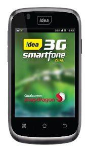 Idea lanza Zeal teléfono dual SIM 3G;  a un precio de Rs.  5390