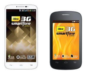 Idea lanza dos nuevos teléfonos inteligentes Android económicos, el Ultra II y! D 1000