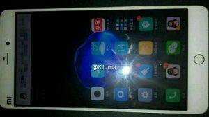Imagen en vivo de Xiaomi Mi 5s filtrada en línea