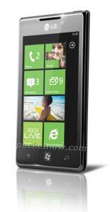 Imagen filtrada de LG Miracle Windows Phone