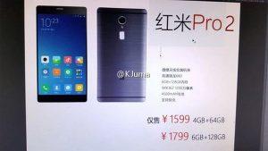 Imágenes y especificaciones de Xiaomi Redmi Pro 2