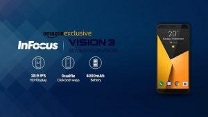 InFocus Vision 3 con pantalla completa de 5.7 pulgadas, cámaras traseras duales y batería de 4000 mAh lanzado en India