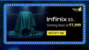 Infinix S5 Lite pronto se lanzará en India por un precio de ₹ 7,999