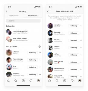 Instagram ahora te muestra las cuentas más interactuadas y menos interactuadas