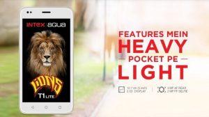 Intex Aqua Lions T1 Lite con pantalla de 5 pulgadas, Android 7.0 Nougat y 4G VoLTE lanzado en India